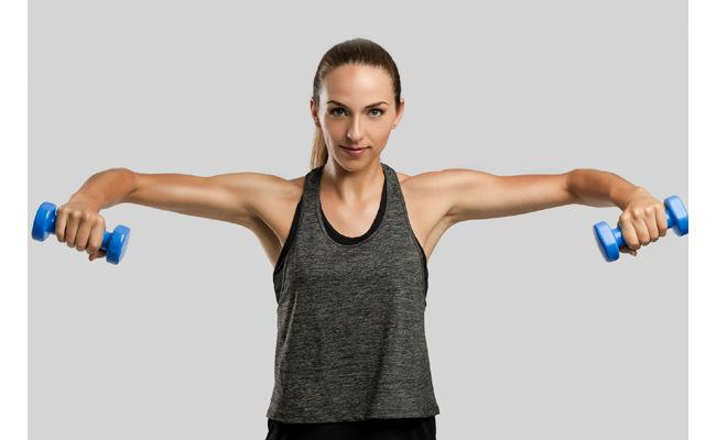 rutinas para hombros de elevaciones frontales