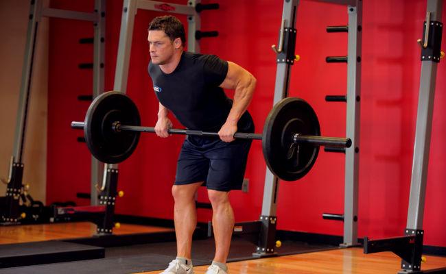 ejercicios de remo con barra