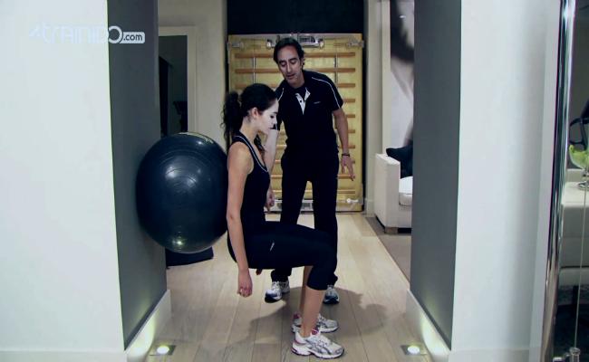 ejercicios para glúteos con pelota