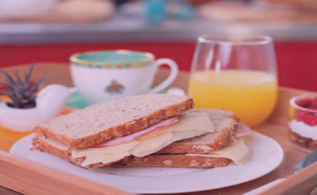 sandwich para un desayuno muy saludable