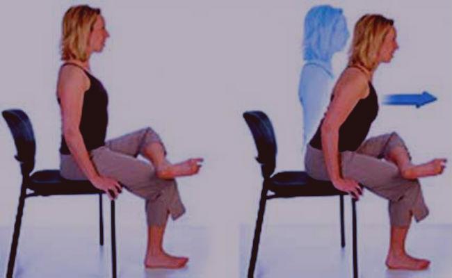 Ejercicios sentado para el nervio ciático