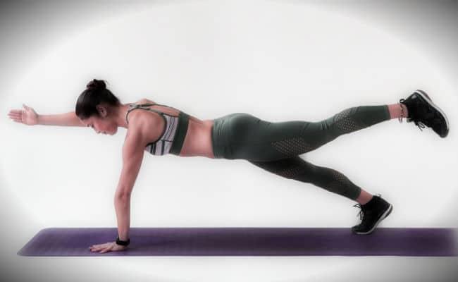 plancha ejercicio frontal